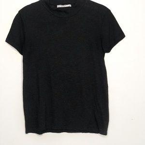 Anthropologie Stateside Black Short Sleeve T-Shirt